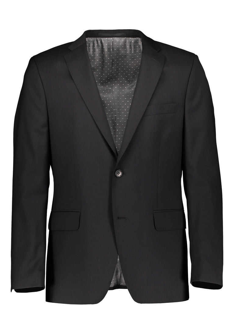 Slim fit suit in natural stretch wool