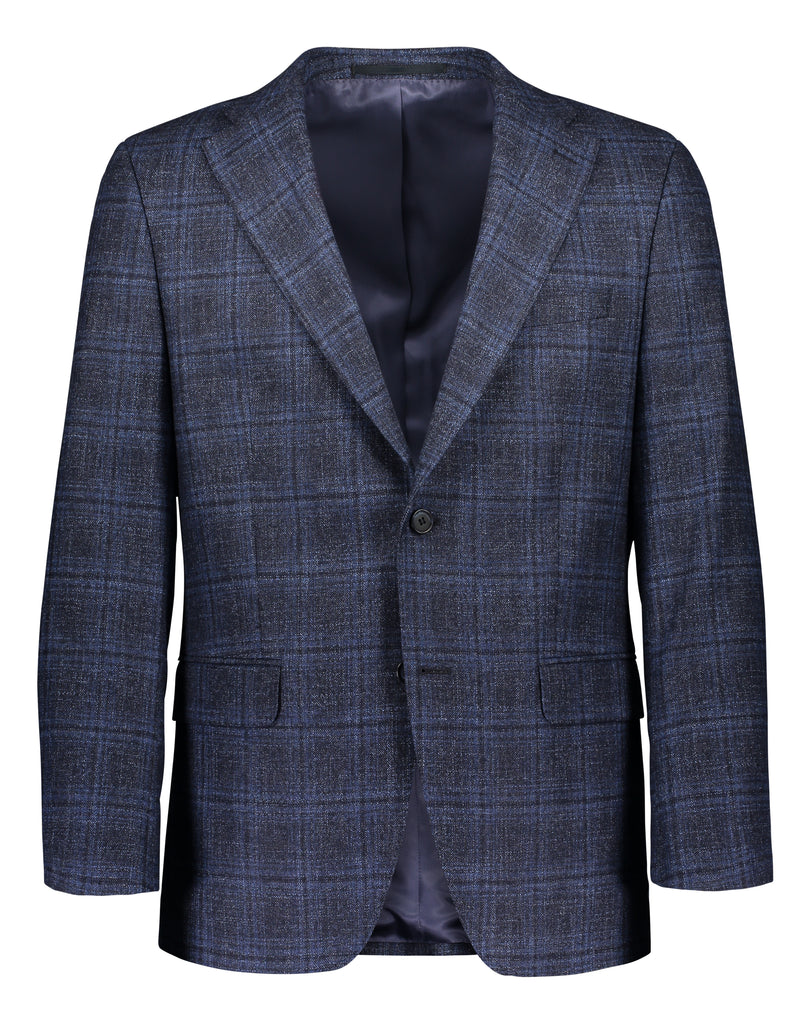 Modern fit blazer broken check blue