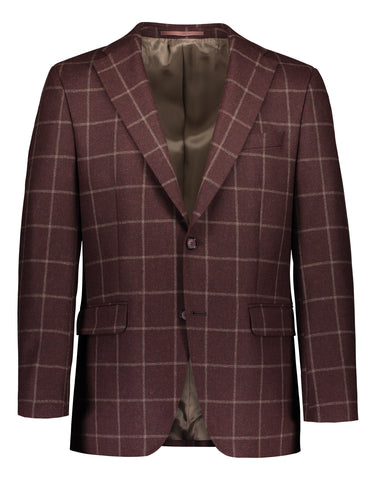 Modern fit blazer flannel windowpane