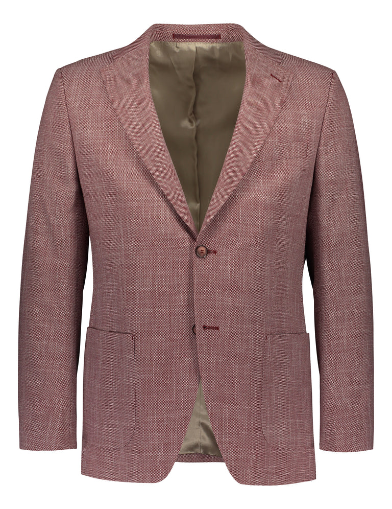 Red casual luxury blazer in regular fit