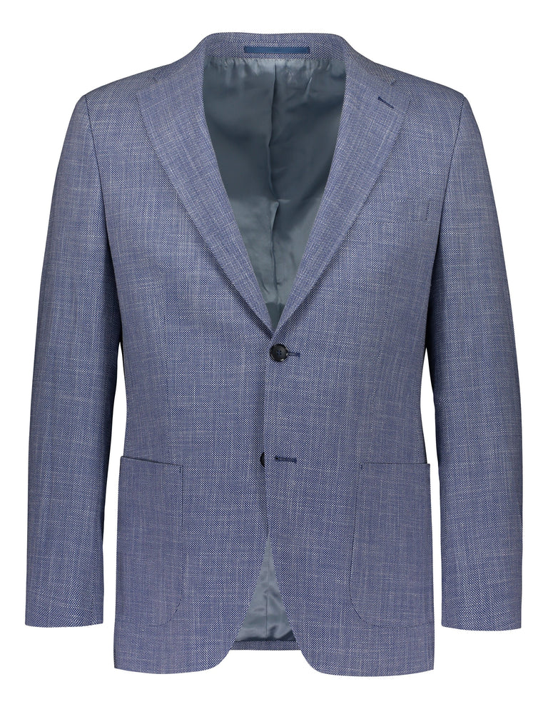 Blue casual luxury blazer in regular fit