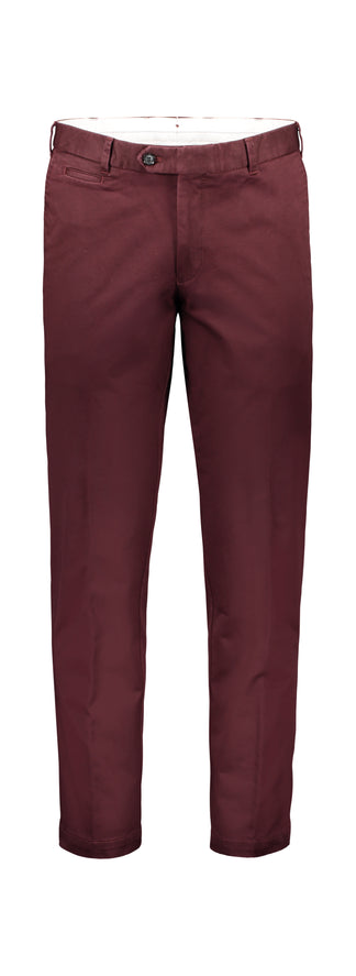 Modern fit chino  in cotton stretch merlot
