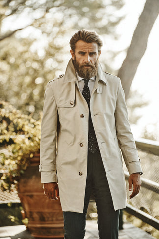 Wind and water protected coat in beige (2014879612990)