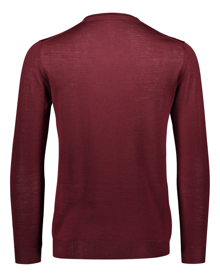 Merino knit v-neck burgundy