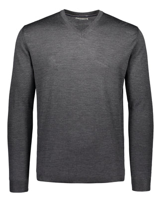 Merino knit v-neck grey