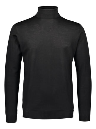 Merino rollneck knit in black