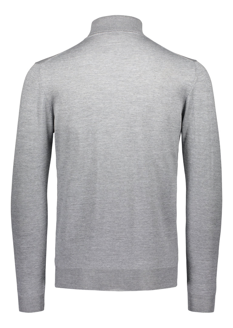 Merino rollneck knit in light grey