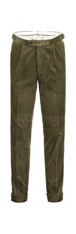 Modern fit corduroy green