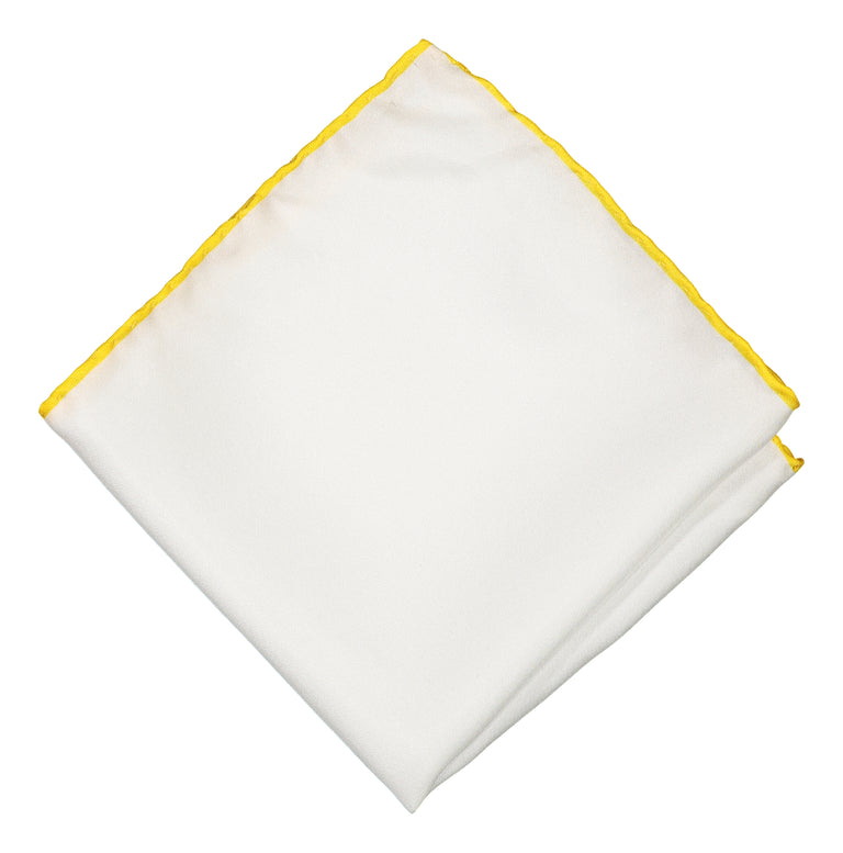 Pocket square with yellow twist