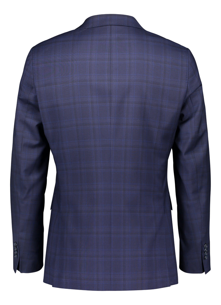 Sininen businesspuku <br> italialaista villaa <br> slim fit (4460831211582)