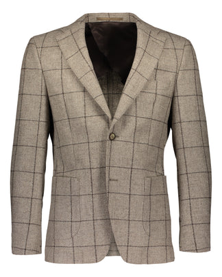 Slim fit blazer rustic luxury check