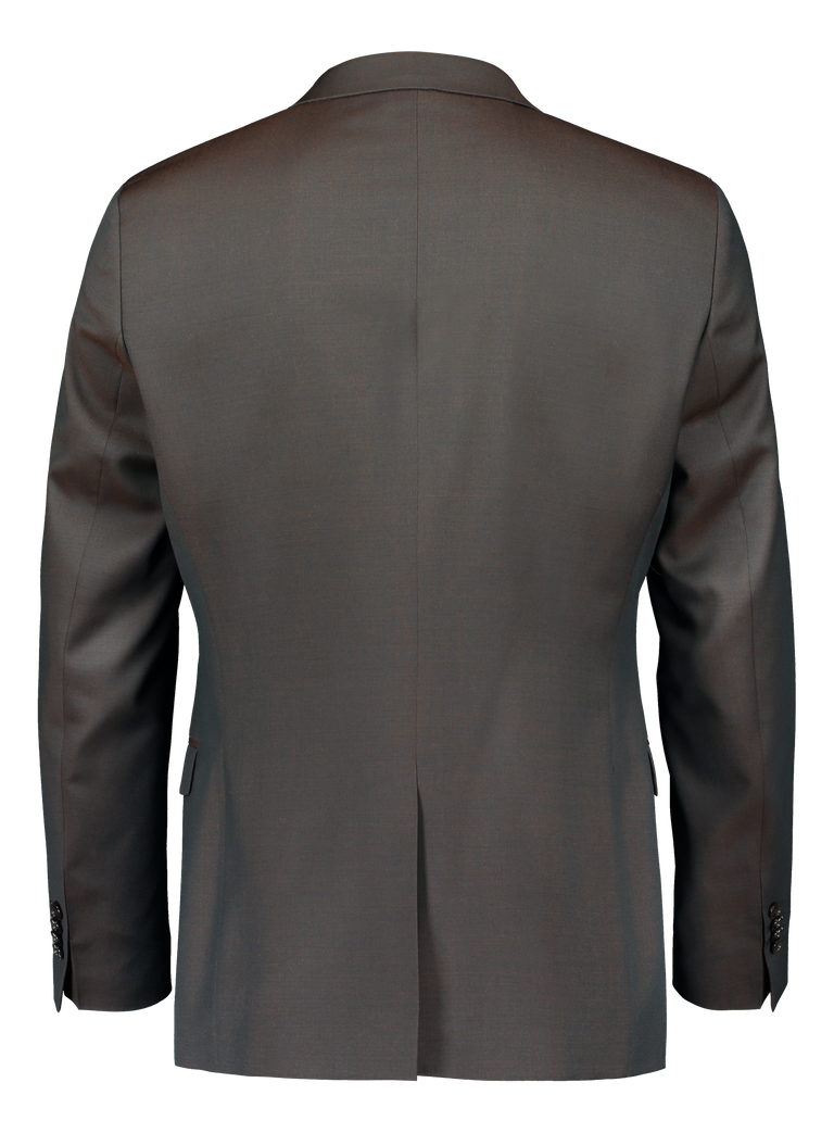 Jeremias suit in green/brown chameleon merino wool