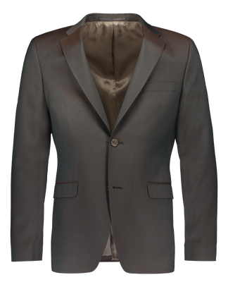 Jeremias suit in green/brown chameleon merino wool (2323310313534)