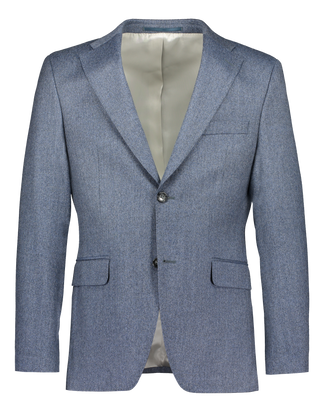 Reda super 120's wool in smart flannel blue (2422059434046)