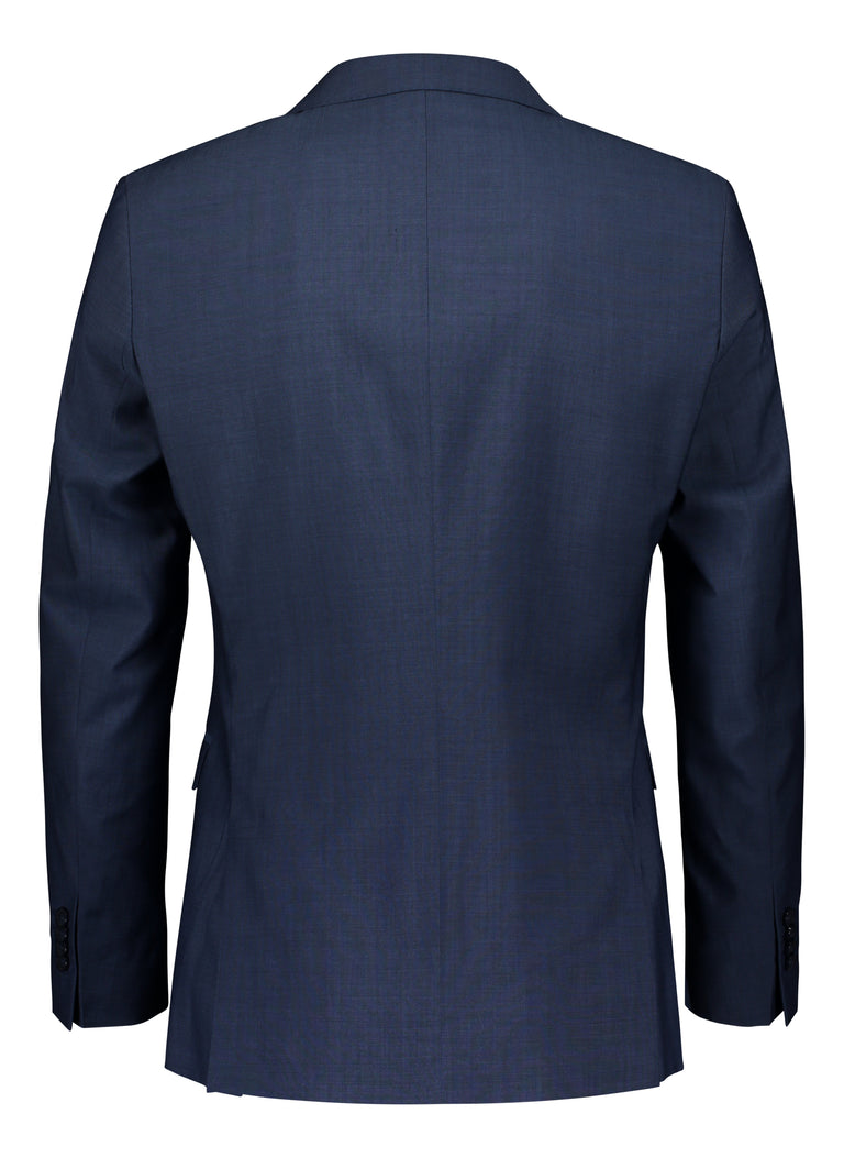 Blue slim fit suit in Tollegno mohair look