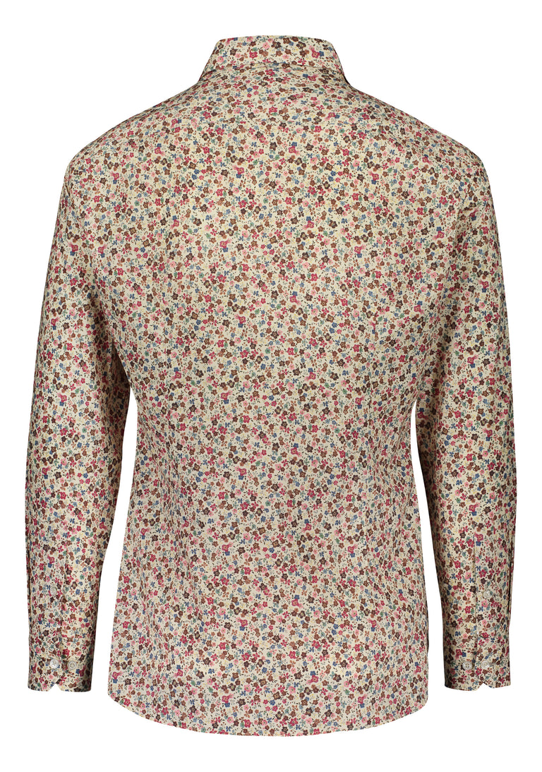 Slim fit shirt from Thomas Mason in warm floral print