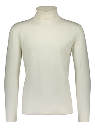 Merino rollneck knit in cream white