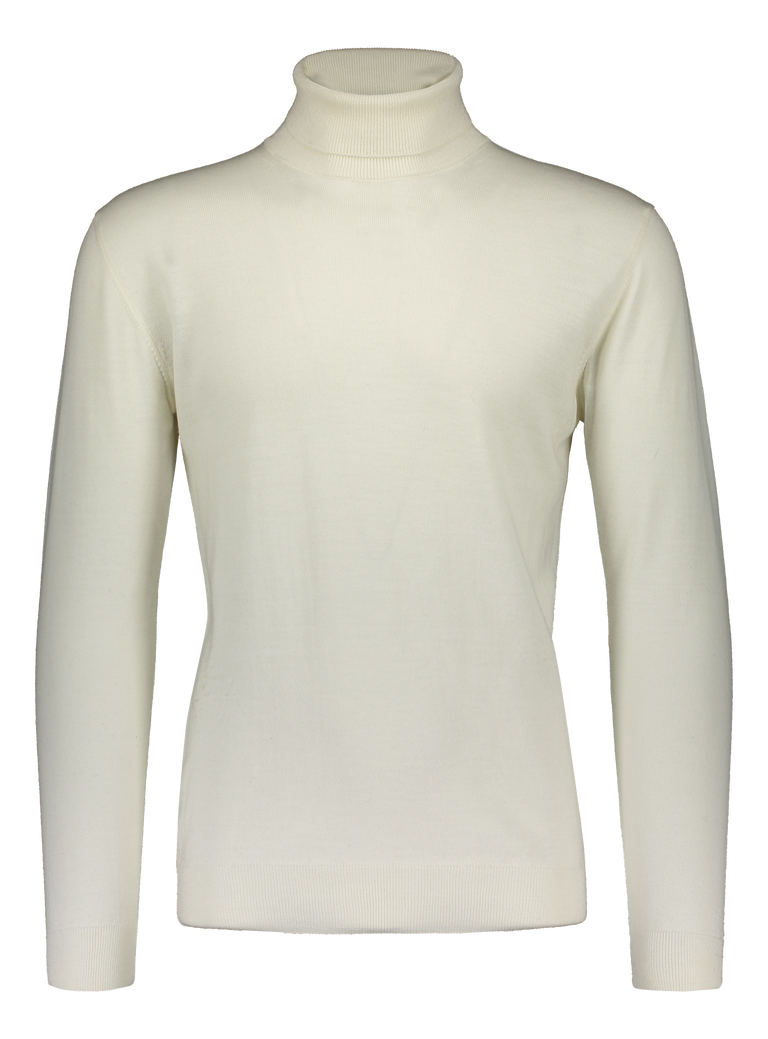 Merino rollneck knit in cream white (2319102771262)
