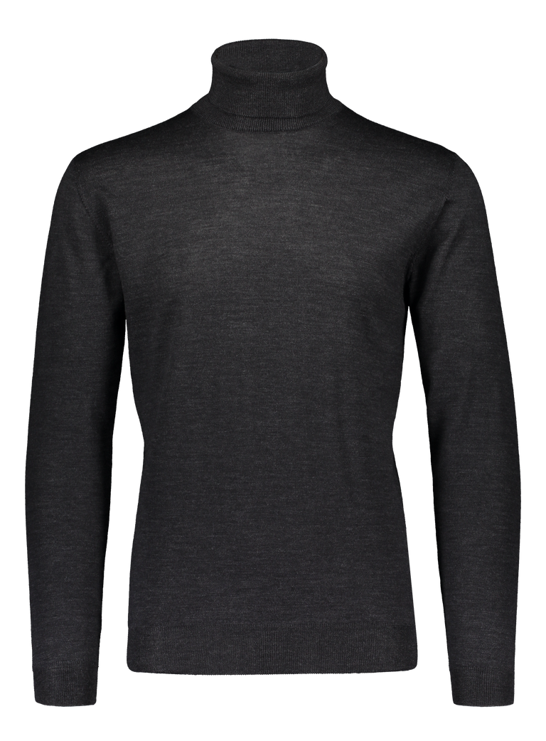 Merino rollneck knit in graphite