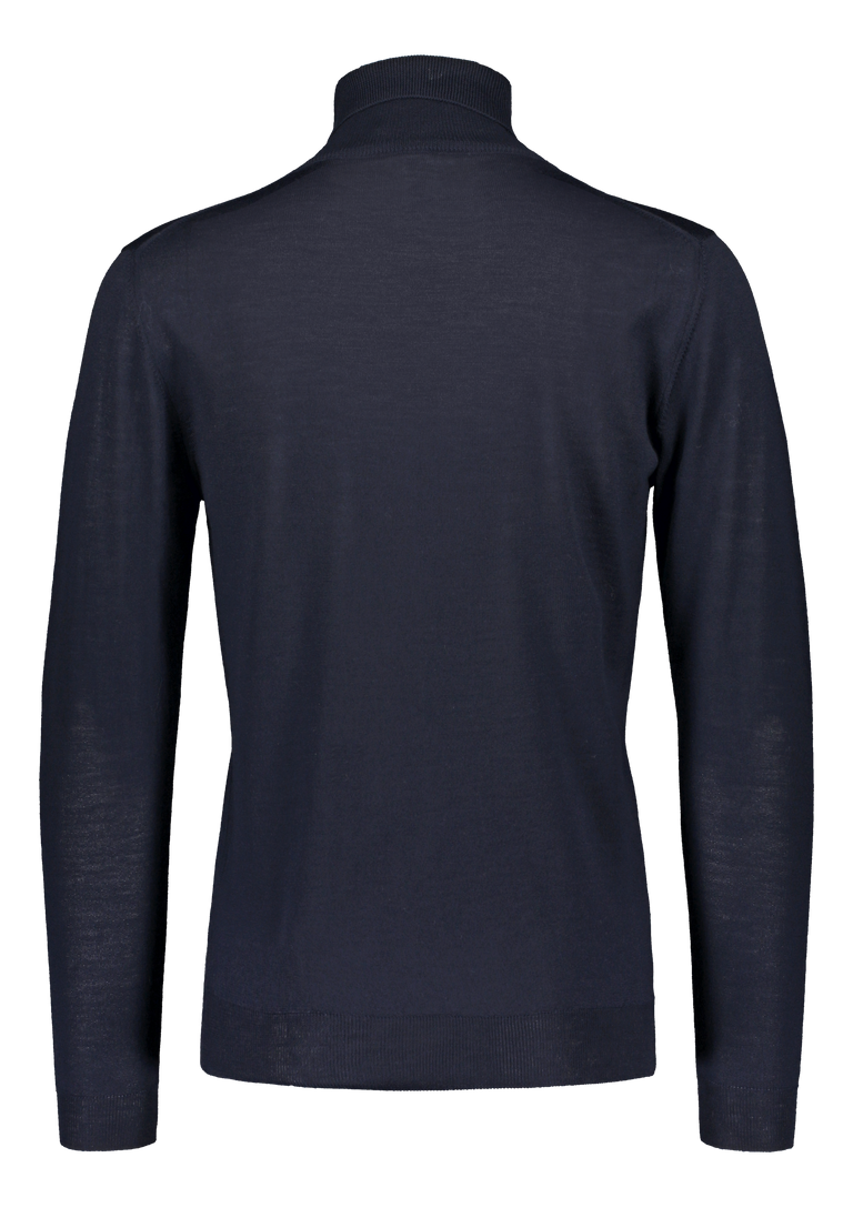Merino rollneck knit in navy