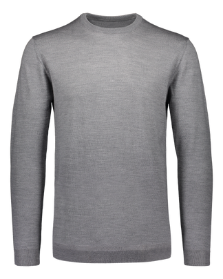 Merino knit crew neck clay
