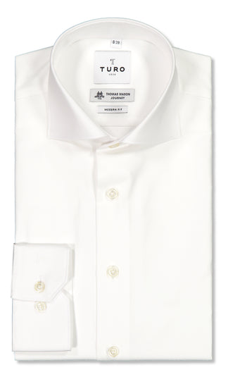 Modern fit shirt in Thomas Mason journey