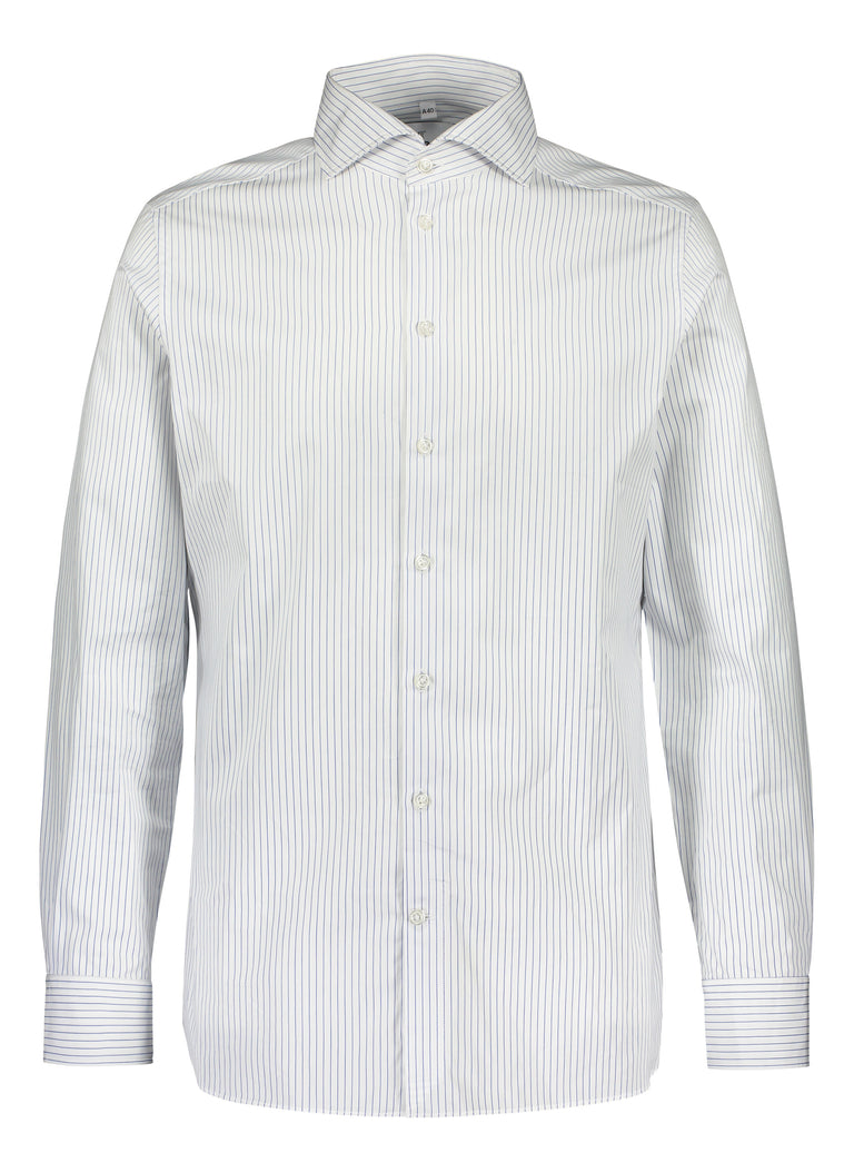 Slim fit shirt in Thomas Mason blue stripe