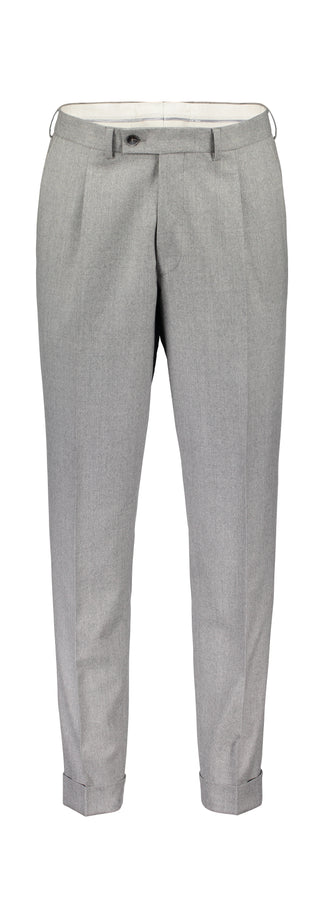 Slim fit trousers in grey flannel (1440028917822)
