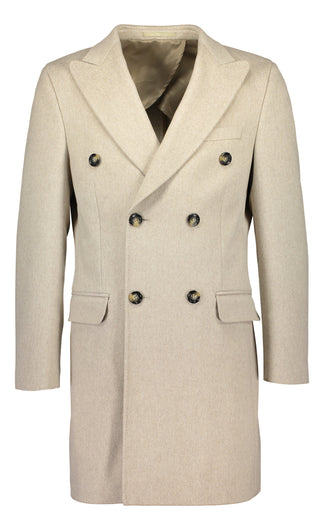 Double breasted overcoat in Loro Piana wool