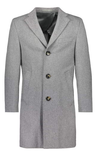 Ulster in light grey Loro Piana wool (2329668321342)
