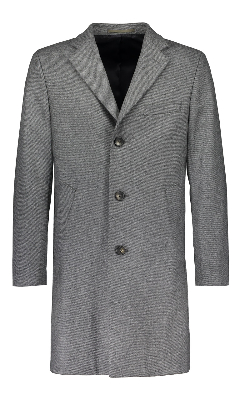 Tattorie Overcoat in light grey