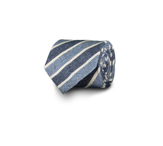 Silk-cotton tie, blue