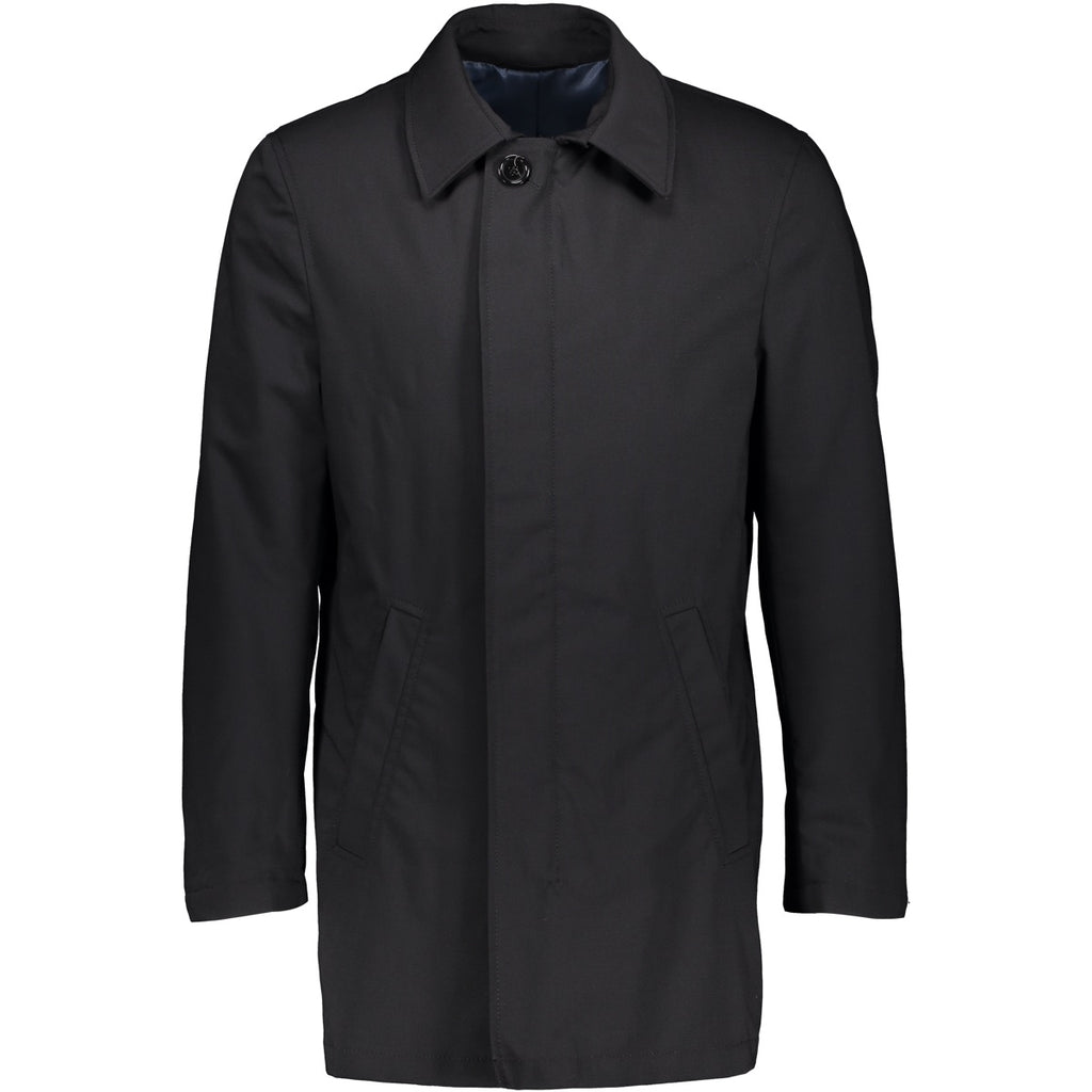 Turku Overcoat 8014 stormy black