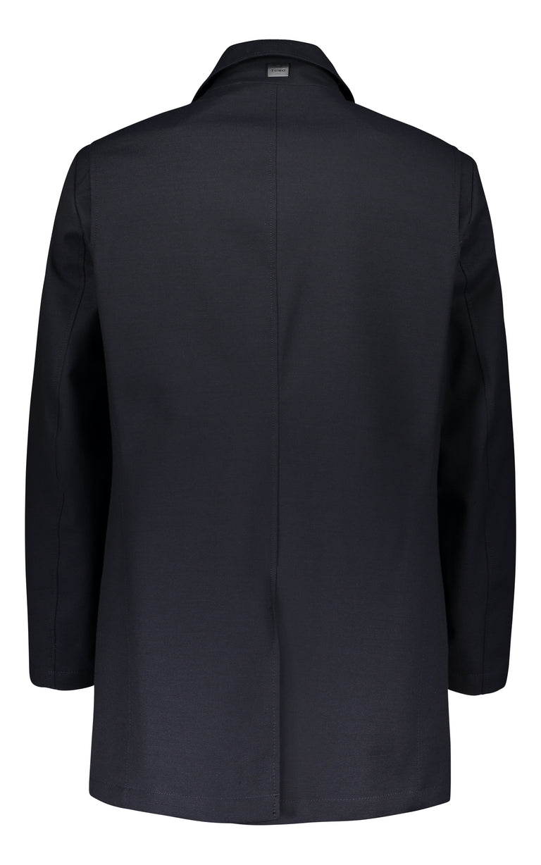 Wind & Waterproof car coat in navy blue