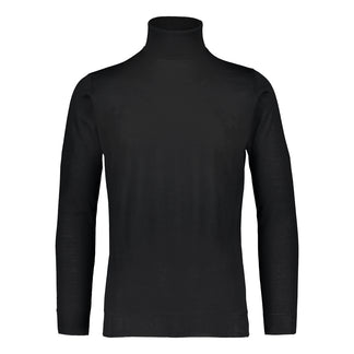 Merino rollneck knit in black/ Ikla