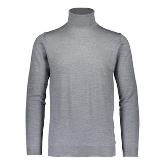 Merino rollneck knit in mid grey / Ikla