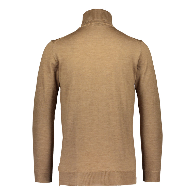 Merino rollneck knit in beige/ Ikla