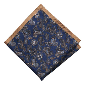 Pocket square with marine paisley
