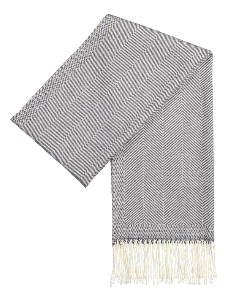 Scarf luxury wool grey