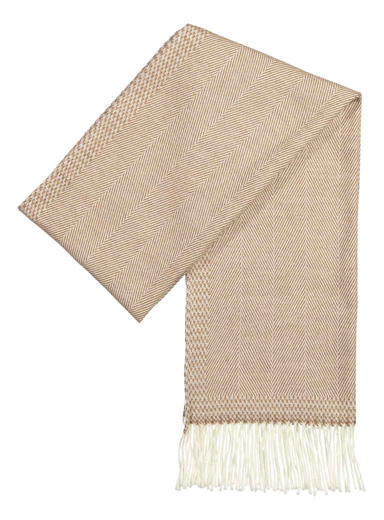 Scarf luxury wool fudge