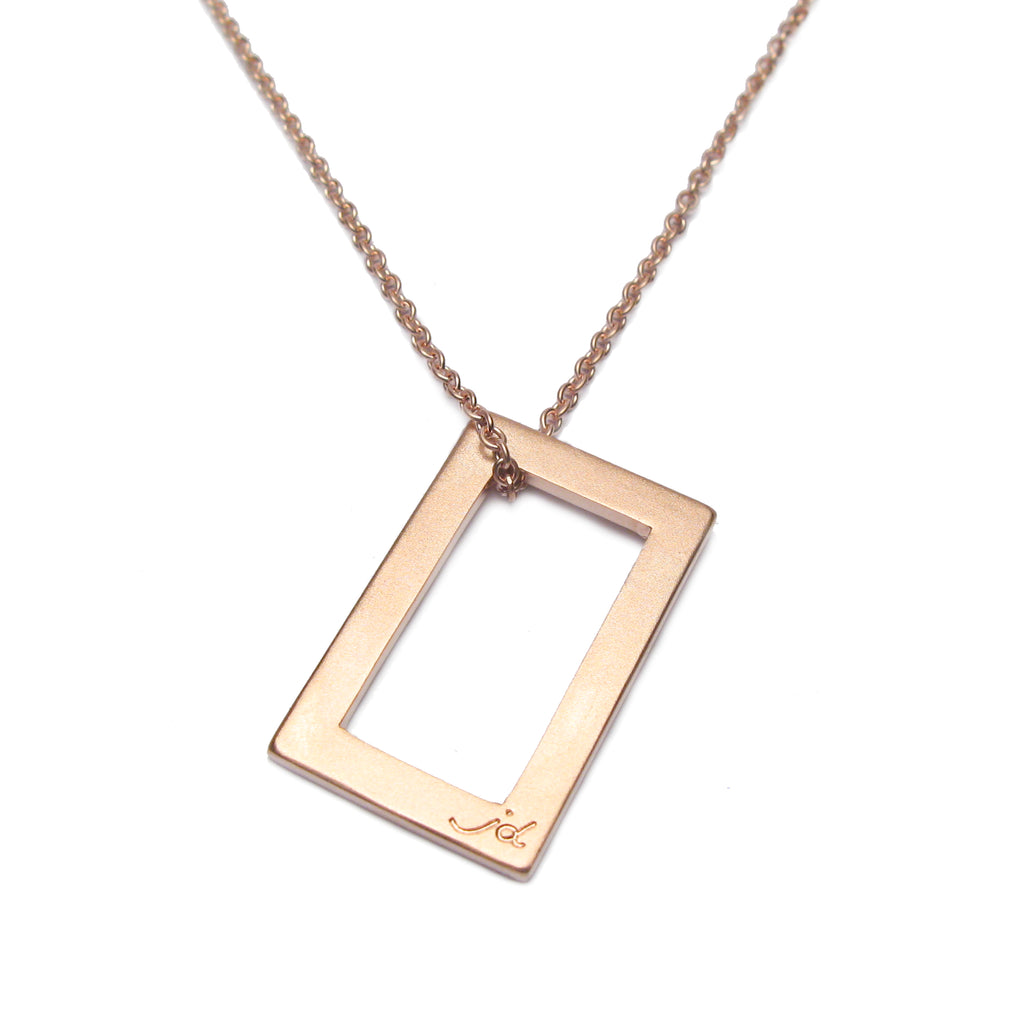 Bespoke - Rose Gold Rectangle Pendant