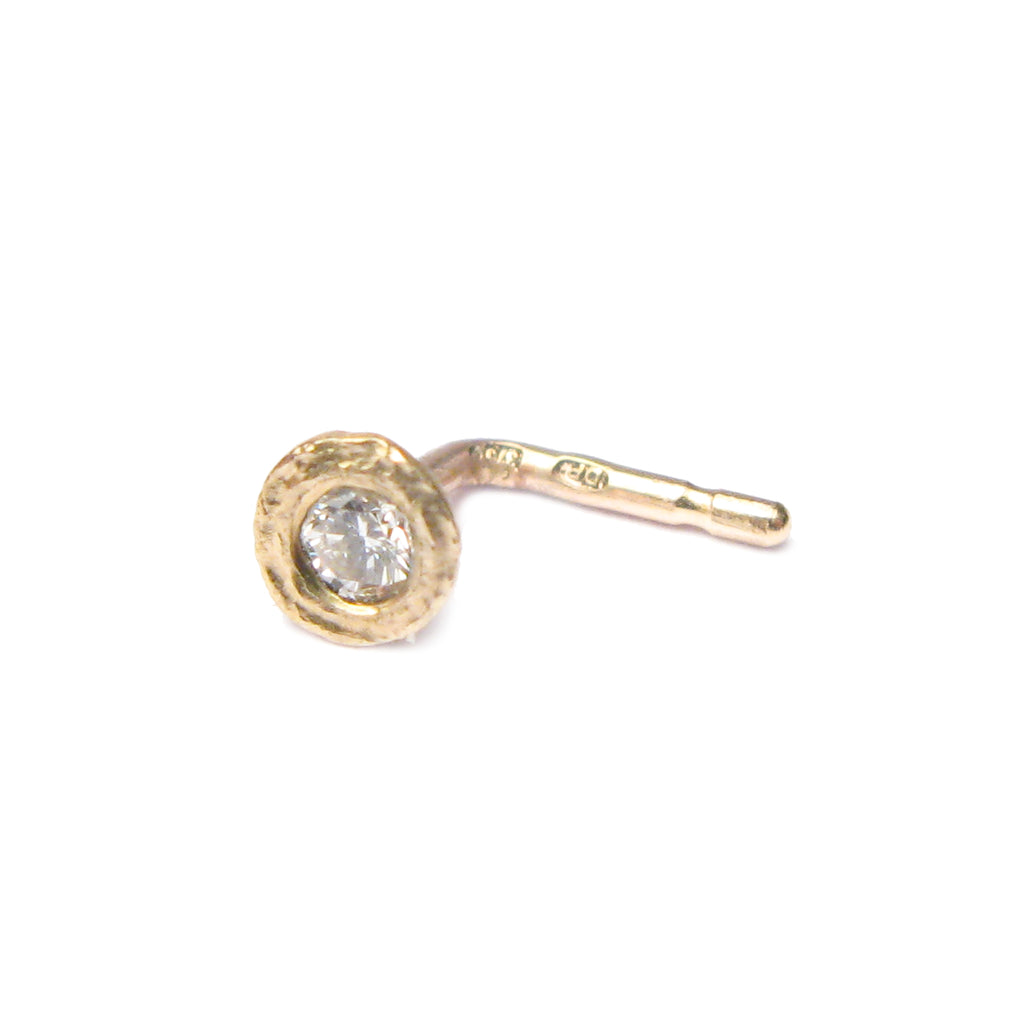 Bespoke - Diamond and Yellow Gold Nose Stud