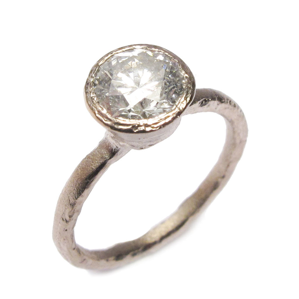 Bespoke - 18ct White Gold and Brilliant Cut Diamond Ring
