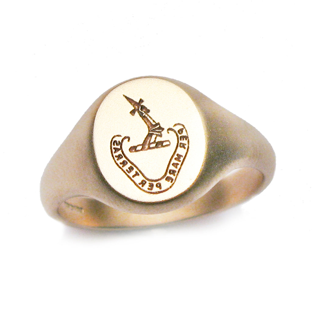 Bespoke- 9ct gold signet ring