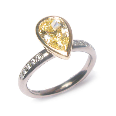 Bespoke - Fancy Yellow Diamond and Gold Ring