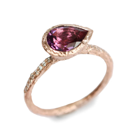 Bespoke pink tourmaline in 9ct rose gold