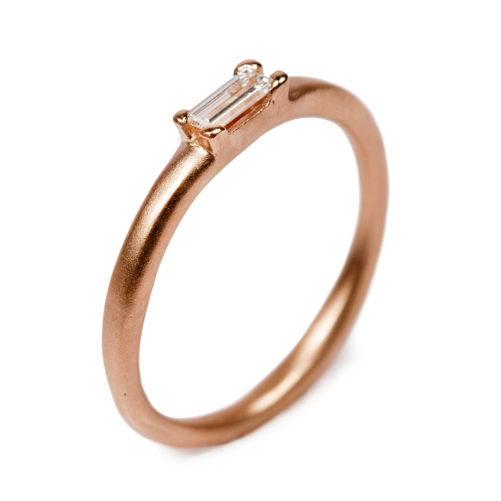 Bespoke - 18ct Rose Gold with Baguette Diamond