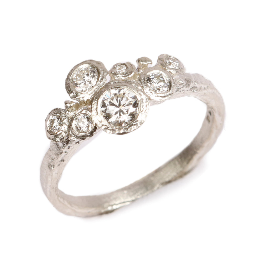 Bespoke -  Diamonds and 9ct White Gold Ring