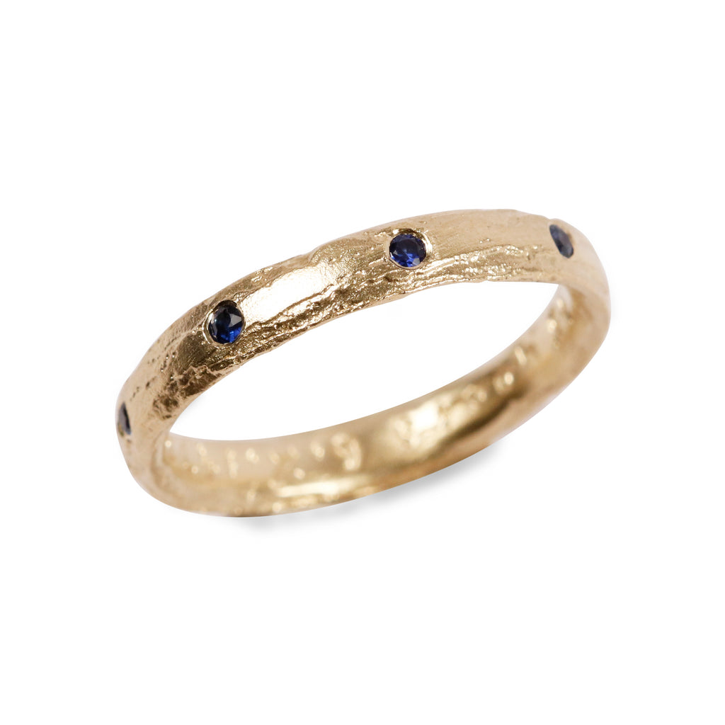 Bespoke - 18ct yellow Gold set with Blue Sapphires