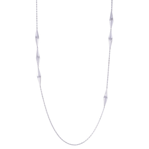 Alice Barnes Shard Long Necklace Silver
